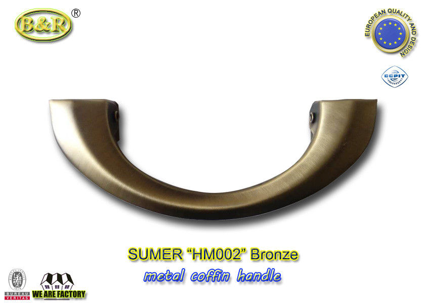 HM002 Metal Coffin Handles  Die Casting color antique bronze size 20*8 cm moon shape european design